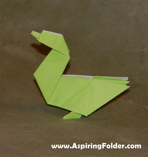 Origami Duck - origami duck crafts