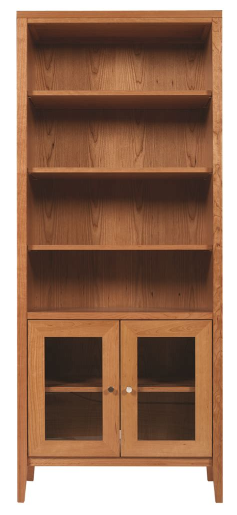 kingston stereo bookcase with doors homestead