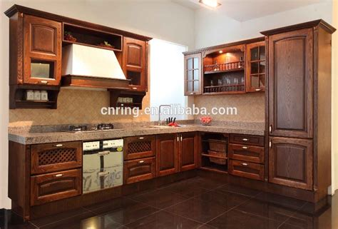 2015 modern oak wood solid wood kitchen cabinets design