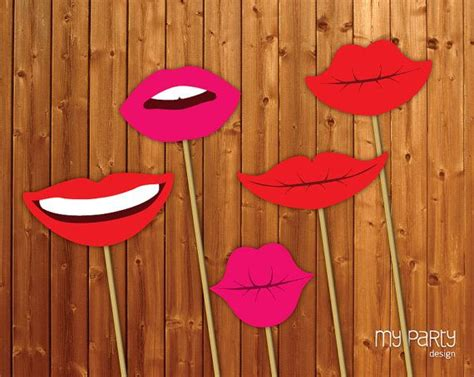 printable photo booth props on a stick photo booth props printable lips props on a stick