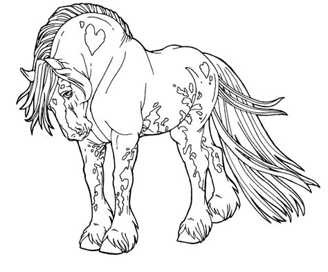 welsh pony coloring pages free lines gypsy drum horse by applehunter on deviantart