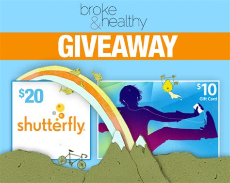 Shutterfly Gift Cards In Stores - win a 10 itunes 20 shutterfly gift card