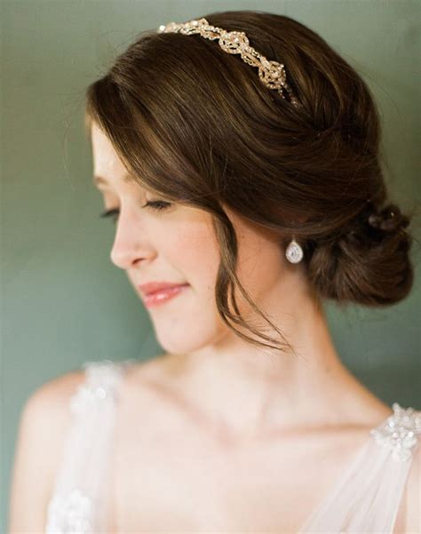 Wedding Hairstyles With Low Bun by Bridal Hairstyles Low Bun With Headband Www Imgkid