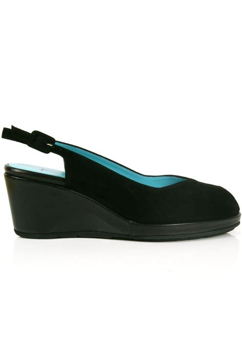 thierry rabotin shoes thierry rabotin black peeptoe slingback wedge sue