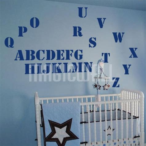 Alphabet Wall Decals For Nursery Wall Decals Alphabet Nursery Wall Stickers