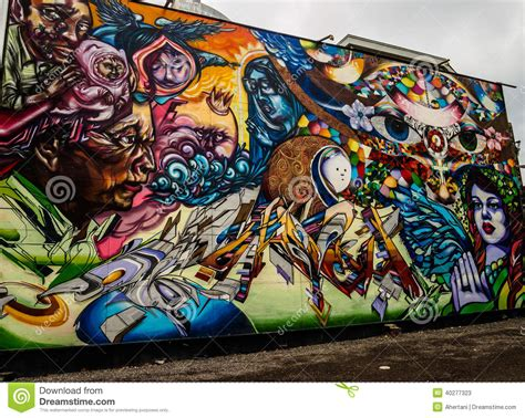 Colorful Wall Murals toronto street art editorial stock photo image 40277323