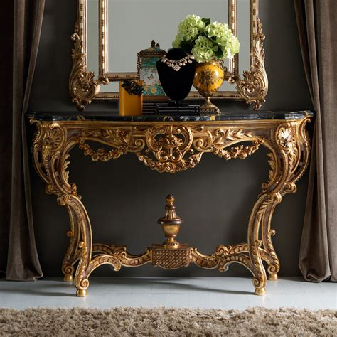 ornate couch ornate gold rococo console table