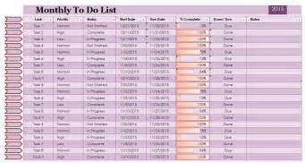 Monthly Task List Template by Doc 536693 To Do Task List Template Free Task List