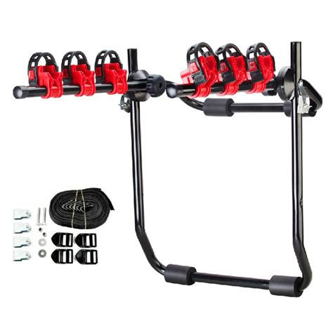 porta mtb auto 3 bike trunk mount hatchback suv or car sport bicycle