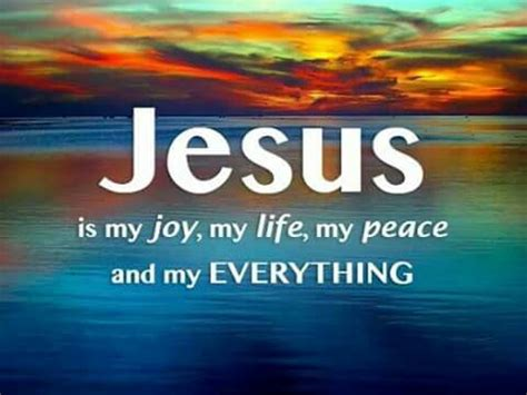 jesus is my jesus is my my my peace and my everything i