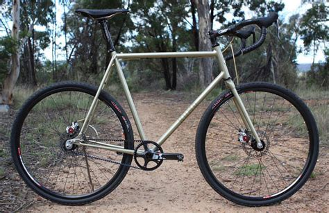 Handmade Cyclocross Bikes - kumo cycles handmade single speed cyclocross bike on