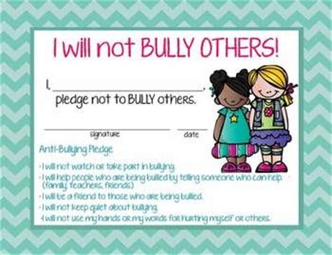 17 Best Ideas About Bullying Posters On Pinterest Counseling Posters Rude Meaning And Anti Bullying Contract Template