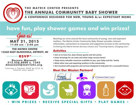 Community Baby Shower by Community Baby Shower Matrix Human Services