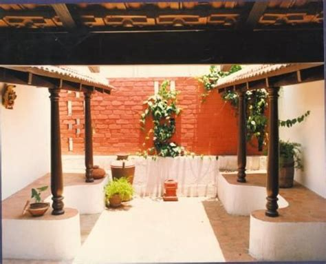 interior designers in chennai for small houses a small chettinad type of courtyard on the first floor