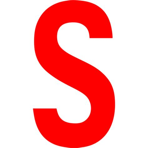 Red Letter S Icon Free Red Letter Icons