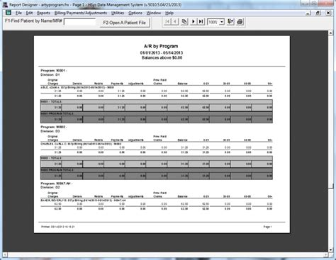 Accounts Receivable Tracking Spreadsheet by Hsys Electronic Billing Software For Medicaid Official