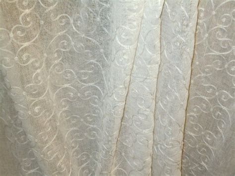 lace drapery fabric softline pattern concord color white sheer lace drapery fabric