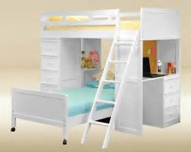 White Bunk Bed With Desk White Loft Bed With Desk Contemporary Beds Los Angeles By Justbunkbeds