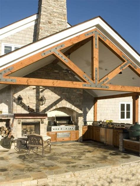 Exposed Truss Roof Framing Home Design Ideas, Pictures