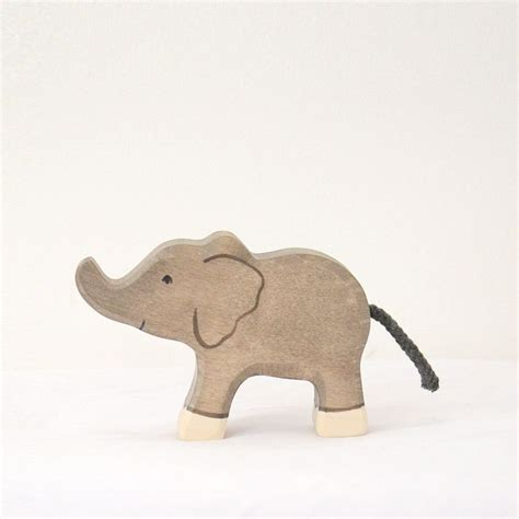 Handmade Elephant - small elephant holztiger handmade wooden toys for children