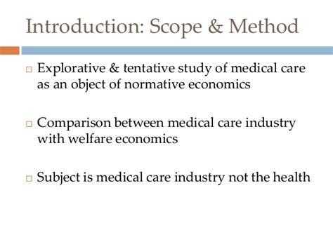 Mba Health Care Scope by Uncertainty And The Welfare Economics Of Care
