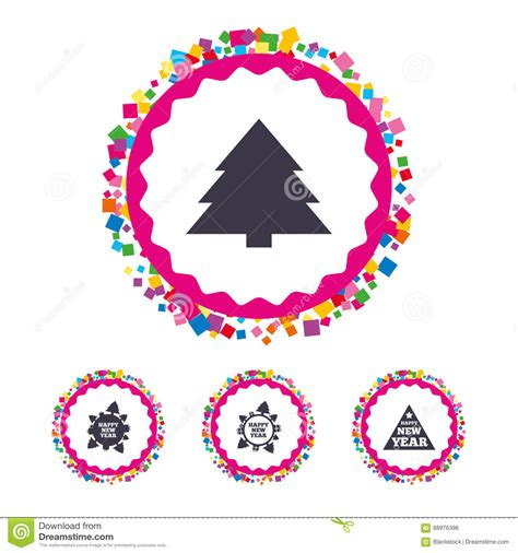 new year signs and symbols happy new year sign trees stock vector image