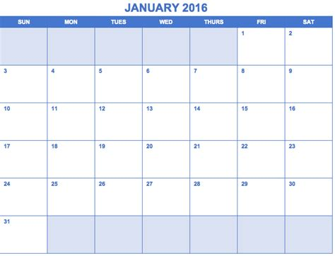 template for calendar month free excel calendar templates