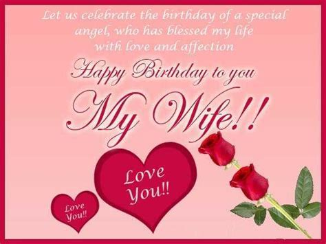 Happy Birthday Wishes for Wife With Love Messages Romantic