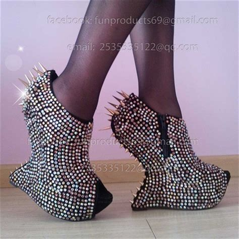high heel shoes without heel promotion new 2012 spike rhinestone pumps no heel shoes