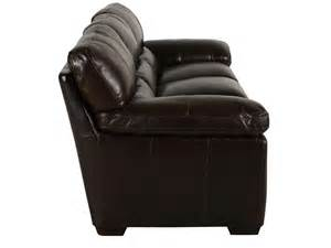 simon li leather longhorn black oak sofa mathis brothers