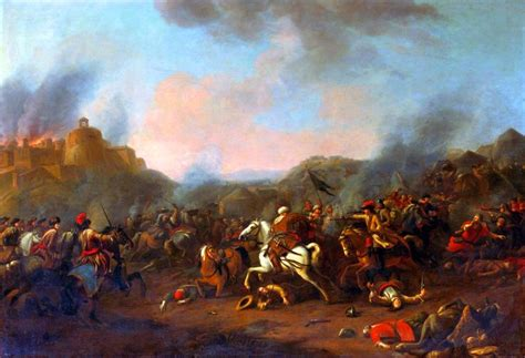 ottoman war charge of the austrian cavalry against the ottomans