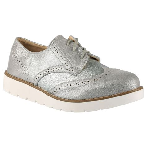 oxford pumps shoes dina womens low heels glitter lace up brogues shoes