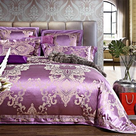 satin throws bedroom quality jacquard satin luxury lace bedding comforter set