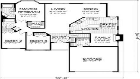 House Plans Without Garage by 3 Small House Bedroom 3 Bedroom House Floor Plans With