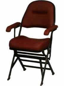 club series upholstered seat and back folding chair with arms and leg covers