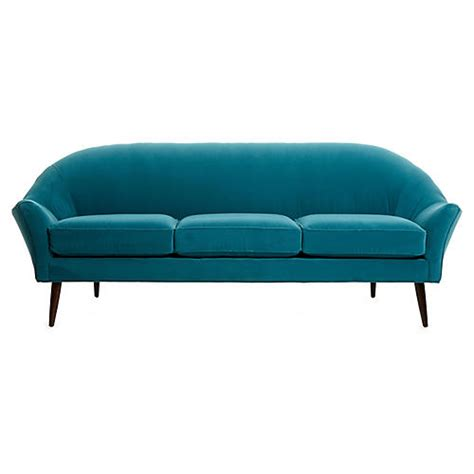 peacock velvet sofa sofas settees living room furniture one kings lane