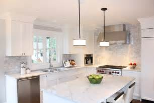 White Kitchen Tile Backsplash by For The Home On Herringbone Backsplash