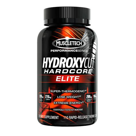 muscletech nutrition hydroxycut elite 110 caps burner new formula