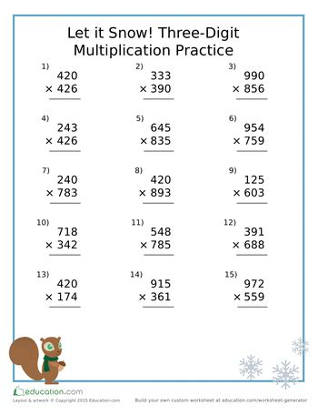 Practice Worksheets For 5th Grade by Winter Math Printables For 5th Grade Education