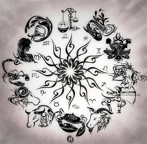 zodiac signs taurus tattoo designs zodiac wheel with sign aries design kamistad