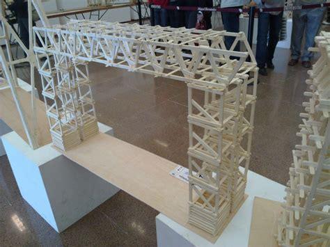 imagenes de puentes hechos de palitos puente ecol imagenes de puentes hechos de palitos puente levadizo electr 243 nico hecho con palitos de