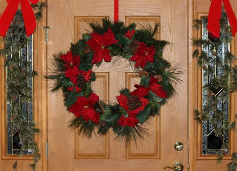 decorate meaning free photo christmas wreath door decoration free image