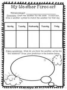 Kids Weather Report Template weather forecast have students chart the weather for the