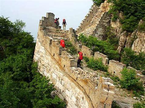 mutianyu section of the great wall jiankou great wall hiking route great wall trekking from
