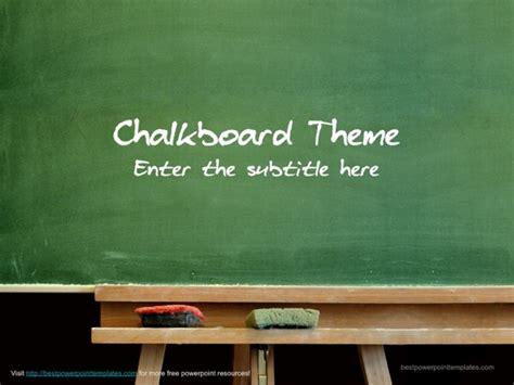 Chalkboard Template Free Chalkboard Powerpoint Template
