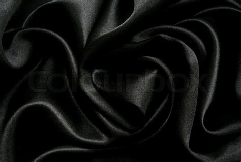 Artistic Drapery Smooth Elegant Black Silk Can Use As Background Stock