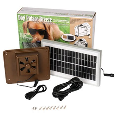 solar powered dog house fan dog palace breeze solar powered exhaust fan lambert vet supply