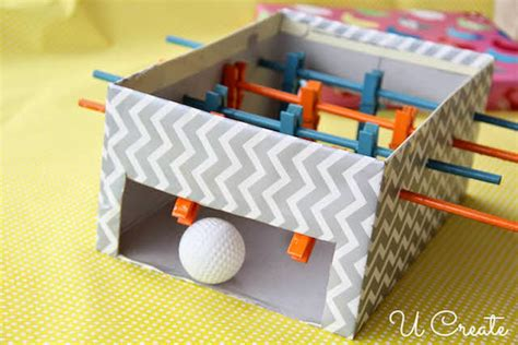 How To Make A Table Football Out Of Paper - how to make mini foosball table for diy crafts