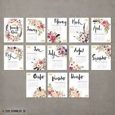 printable calendar 2016 flowers calendario de pared mensual 2017 11 x 14 calendario de