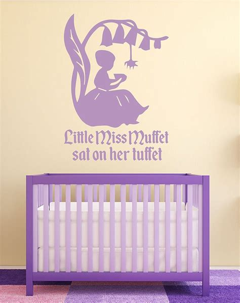 Nursery Rhyme Wall Decals Nursery Rhyme Wall Decals Miss Muffett Nursery Wall Decor Customvinyldecor